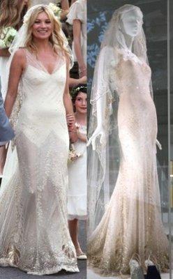 Свадебные платья Гвен Стефани и Кейт Мосс вошли в историю