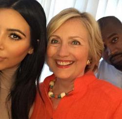 Ким Кардашян уверена, что сделала селфи с будущим президентом