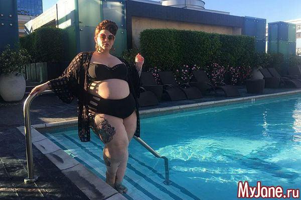 Plus-size модель Тесс Холлидей беременна